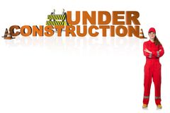 The concept of under construction for your webpage Stock Photography