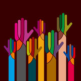 Concept of unity with hands icon Stock Photography