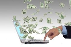 Internet Money Stock Image