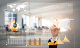 Concept of using modern technologies for business globalization and networking Royalty Free Stock Photo