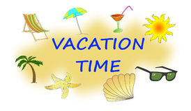 Concept Of Vacation Time Illustration A Royalty Free Stock Photo