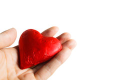 Concept valentine day my heart in your hand Royalty Free Stock Image