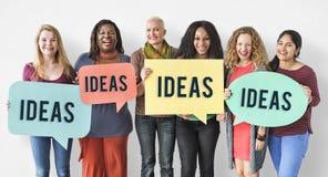 Concept van Brainstormin van inspiratie het Creatieve Ideeën stock fotografie