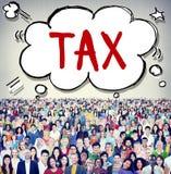 Concept van de Belastingbetalerfinanciën van de belastings het Belastende Belastingheffing Belastbare stock foto