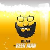 Concept van de bier het vloeibare vectorillustratie Stock Afbeeldingen