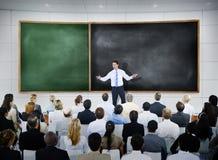 Concept van de de Conferentievergadering van het bedrijfsmensen het Globale Seminarie stock foto's