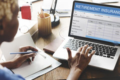 Concept van de de Investerings het Bejaarde Anciënniteit van het pensioneringsplan Stock Foto