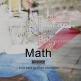 Concept van de de Kennisschool van het wiskunde het Wiskundige Onderwijs Stock Afbeeldingen