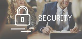 Concept van de de Privacy het Privé Bescherming van de veiligheidsverzekering royalty-vrije stock foto
