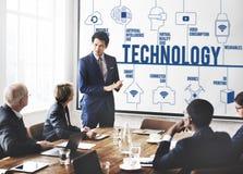 Concept van de de Uitvindingsverbinding van de technologie het Futuristische Innovatie Stock Foto's