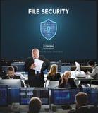 Concept van de de Veiligheidsbescherming van de dossierveiligheid het Online royalty-vrije stock afbeeldingen