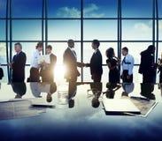 Concept van de de Vergaderingsbespreking van het bedrijfs het Collectieve Mensenvennootschap Stock Afbeeldingen