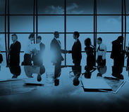 Concept van de de Vergaderingsbespreking van het bedrijfs het Collectieve Mensenvennootschap Stock Afbeelding