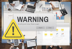 Concept van de de Voorzichtigheids het Gevaarlijke Hulp van het waarschuwingsongeval Stock Afbeelding