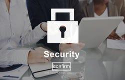 Concept van de de Website het Online Privacy van het veiligheidsslot Royalty-vrije Stock Foto's
