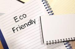 Concept van de Eco het vriendschappelijke tekst Stock Foto's