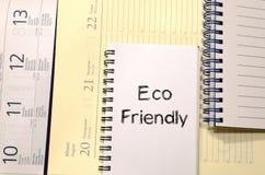 Concept van de Eco het vriendschappelijke tekst Royalty-vrije Stock Foto