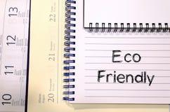 Concept van de Eco het vriendschappelijke tekst Royalty-vrije Stock Foto's
