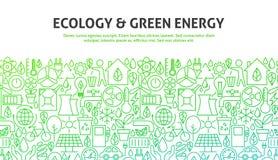 Concept van de ecologie het Groene Energie Stock Afbeelding
