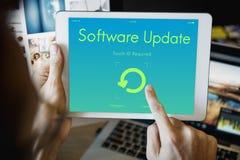 Concept van de het Apparatenvertoning van de softwareupdate het Elektronische royalty-vrije stock afbeelding