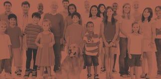 Concept van de het Behoren tot een bepaald rasvriendschap van variatie het Communautaire Mensen stock afbeeldingen
