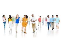 Concept van de het Gelukbespreking van diversiteits het Communautaire Toevallige Mensen Stock Fotografie