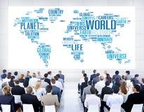 Concept van de het Levensplaneet van de wereldglobalisering het Internationale Stock Afbeelding