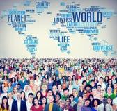 Concept van de het Levensplaneet van de wereldglobalisering het Internationale Stock Afbeeldingen