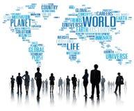 Concept van de het Levensplaneet van de wereldglobalisering het Internationale Stock Foto's