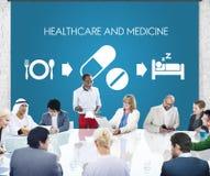 Concept van de het Medicijn het Medische Gezondheid van de gezondheidszorggeneeskunde Stock Afbeeldingen