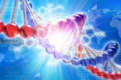 Concept van de het onderzoekwetenschap van DNA het genetische Vector Illustratie