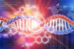 Concept van de het onderzoekwetenschap van DNA het genetische Stock Illustratie