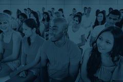 Concept van de het Seminarielezing van variatie het Communautaire Mensen royalty-vrije stock foto