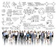 Concept van de het Symboolmeetkunde van de formulewiskunde het Wiskundige Royalty-vrije Stock Fotografie