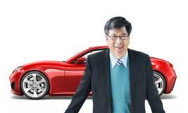 Concept van de het Vervoers 3D Illustratie van het autovoertuig Royalty-vrije Stock Foto