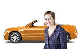 Concept van de het Vervoers 3D Illustratie van het autovoertuig Stock Afbeelding