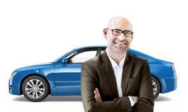 Concept van de het Vervoers 3D Illustratie van het autovoertuig Stock Foto