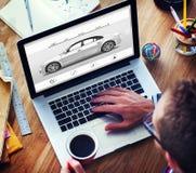 Concept van de het Voertuigelegantie van het auto het Automobiele Vervoer Stock Afbeelding