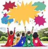Concept van de Kinderen het Speelse Kinderjaren van het jong geitjekind stock foto