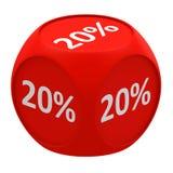 Concept 20% van de kortingskubus Royalty-vrije Stock Foto's