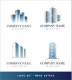 Concept van de Onroerende goederen van het embleem het vastgestelde Stock Afbeeldingen