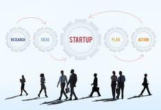 Concept van de Opstarten van bedrijven het Nieuwe Investering Stock Afbeelding
