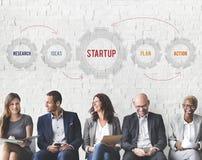 Concept van de Opstarten van bedrijven het Nieuwe Investering Royalty-vrije Stock Afbeelding