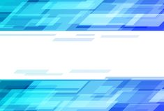 Concept van de technologie het digitale blauwe snelheid, rechthoeken die scatt scheren royalty-vrije illustratie
