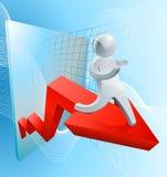 Concept van de vertrouwens het stijgende winst Royalty-vrije Stock Afbeelding