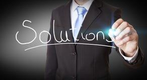 Concept van de zakenman het onmogelijke oplossing Stock Afbeelding