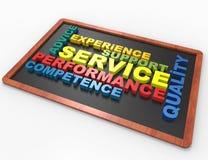 Concept van het de dienst 3d woord Stock Fotografie