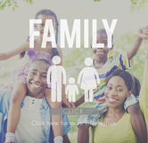 Concept van het de Genealogie het Liefde Verwante Huis van de familiezorg royalty-vrije stock fotografie