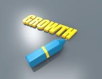 Concept van het de groei 3d woord vector illustratie