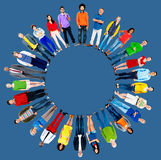 Concept van het de Groeps het Globale Communautaire Behoren tot een bepaald ras van de mensendiversiteit royalty-vrije illustratie